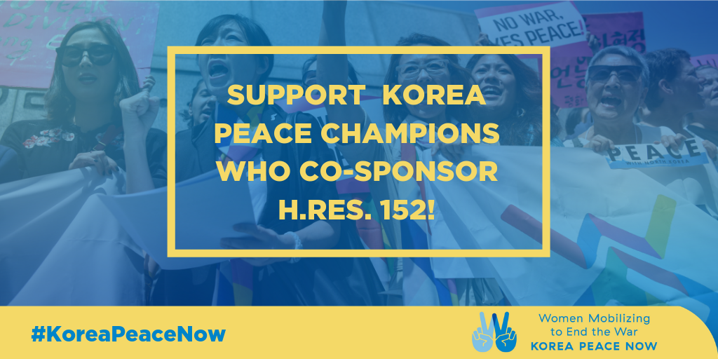 Support Korea Champions Who Co-Sponsor H.Res. 152