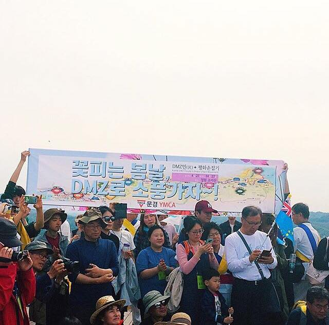 Joining Hands with Half a Million South Koreans to Call for Peace